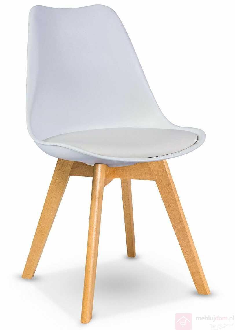 Krzesło KRIS Signal bukowe nóżki Biały DARMOWA Wysyłka 24H