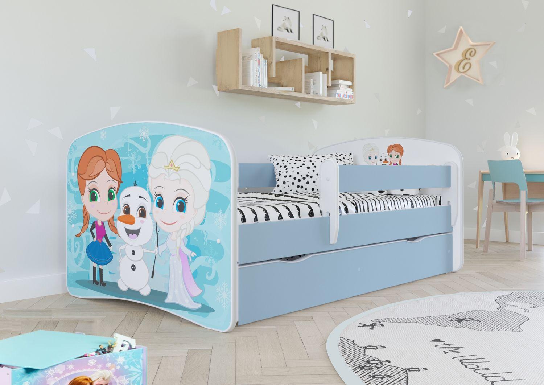 Łóżko dziecięce BABY DREAMS kraina lodu 140x70