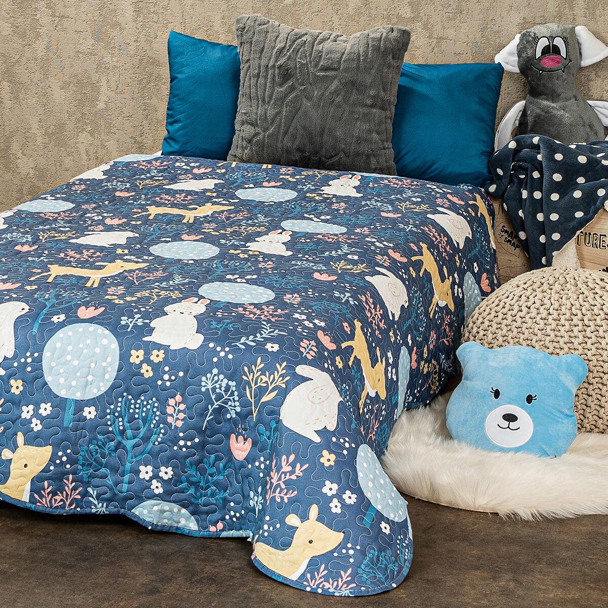 4Home Narzuta dziecięca na łóżko Nordic Woodland, 140 x 200 cm