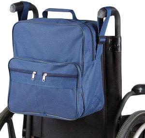 Plecak na wózek lub chodzik z kieszeniami niebieski