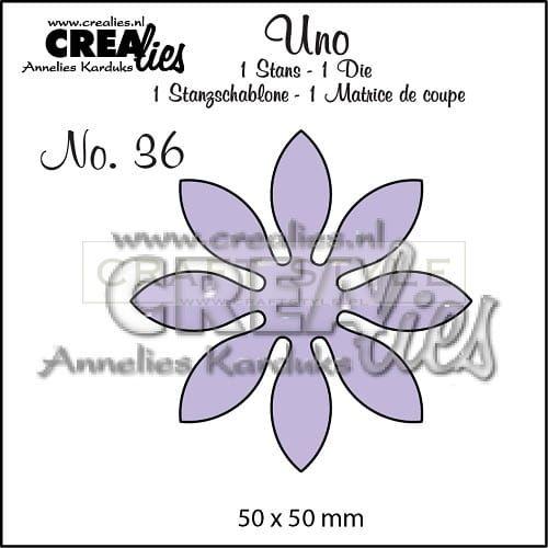 Wykrojnik CreaLies - Kwiat no.36