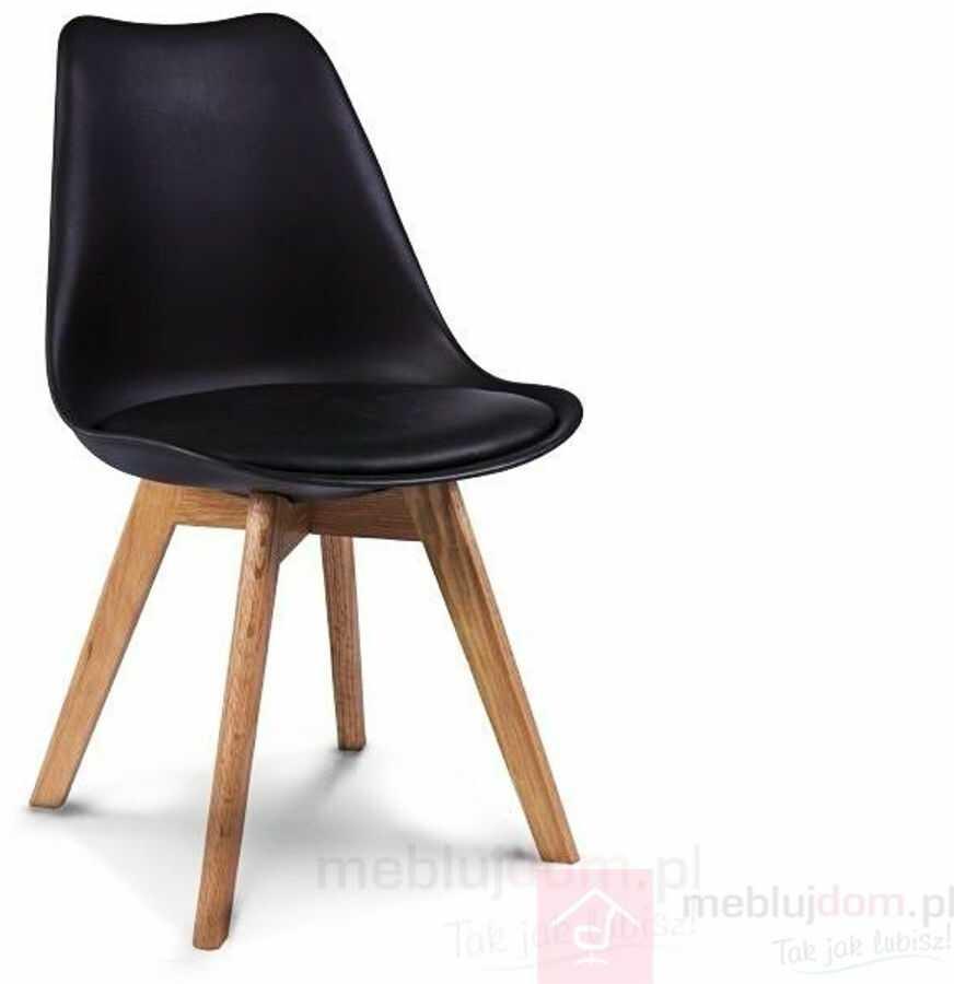 KUPON 10% NA STRONIE  Krzesło KRIS Signal dębowe nóżki Czarny