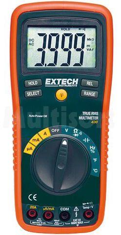 Multimetr cyfrowy EXTECH EX430 LCD (3999) V DC 0,1mV...1000V