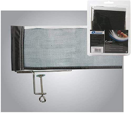 Donic-Schildkröt klasyczna siatka do tenisa stołowego, odporna i praktyczna, regulowana siatka, maksymalna grubość płyty 6,5 cm, 808306
