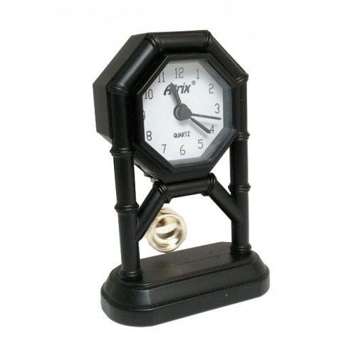 Mini zegar z wahadłem czarny #AK42
