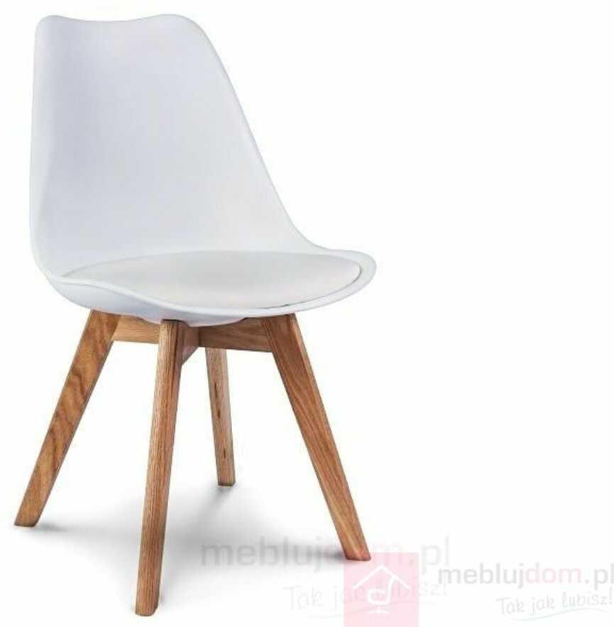 KUPON 10% NA STRONIE  Krzesło KRIS Signal dębowe nóżki Biały
