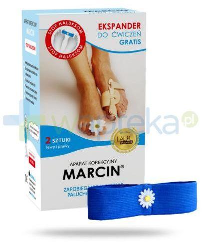 Aparat korekcyjny MARCIN prawy i lewy do stosowania w trakcie snu i wypoczynku 2 sztuki + Ekspander do ćwiczeń
