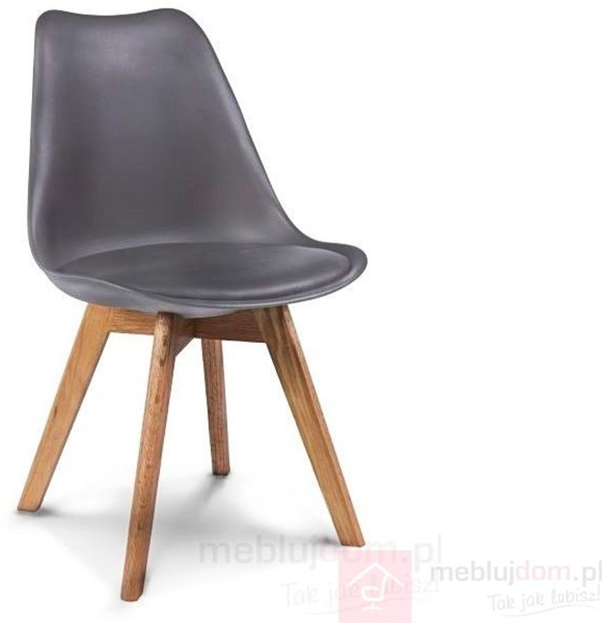 KUPON 10% NA STRONIE  Krzesło KRIS Signal dębowe nóżki Szary