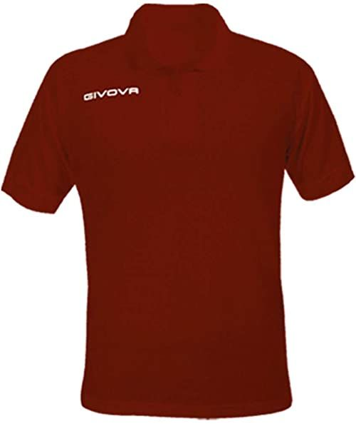 Givova Męska koszulka polo Summer, czerwona, XXXS