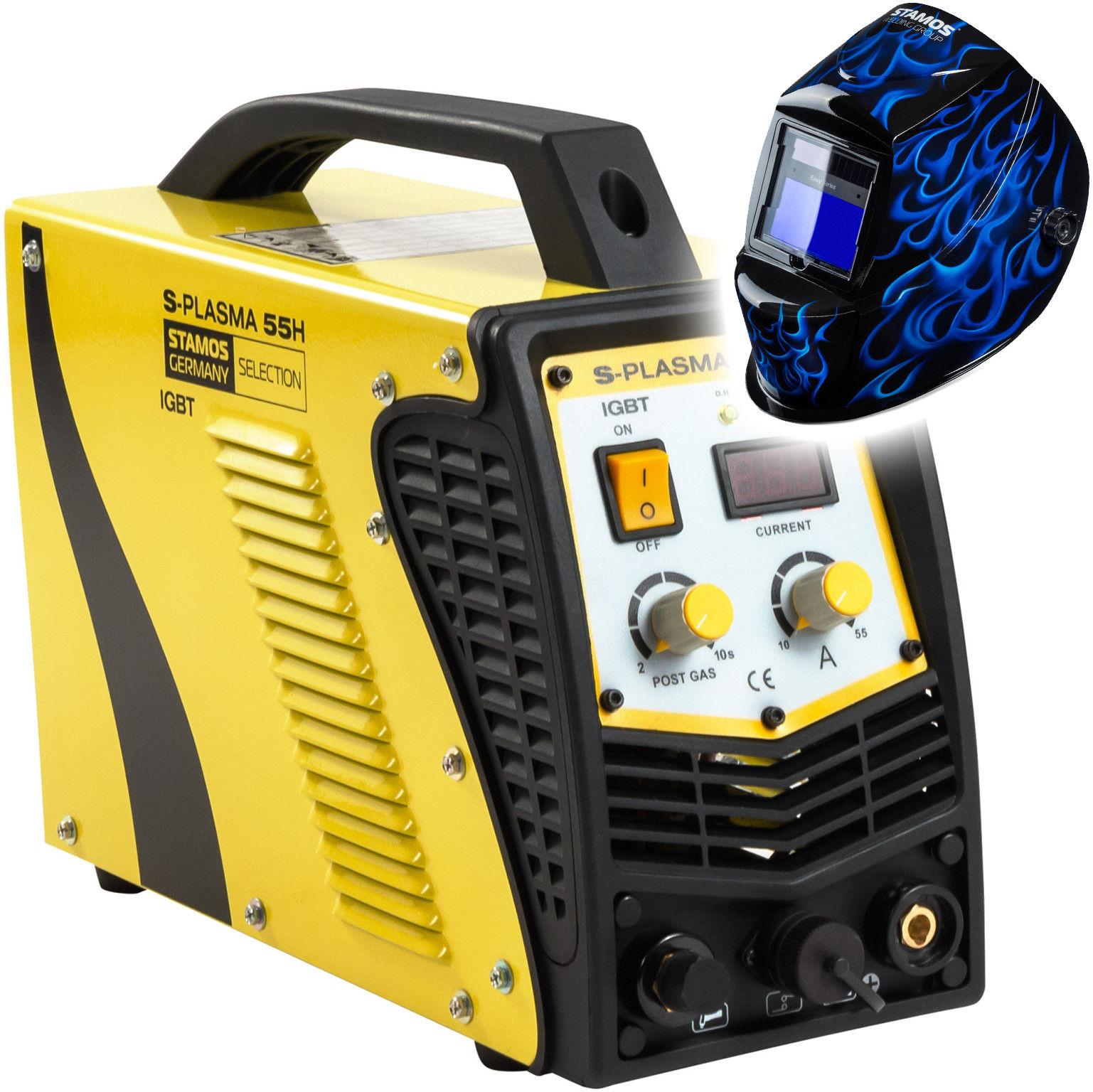 Przecinarka plazmowa - 55 A - 230 V - zapłon kontaktowy + Maska spawalnicza - Firestarter 500 - Adva - Stamos Selection - S-PLASMA 55H - 3 lata