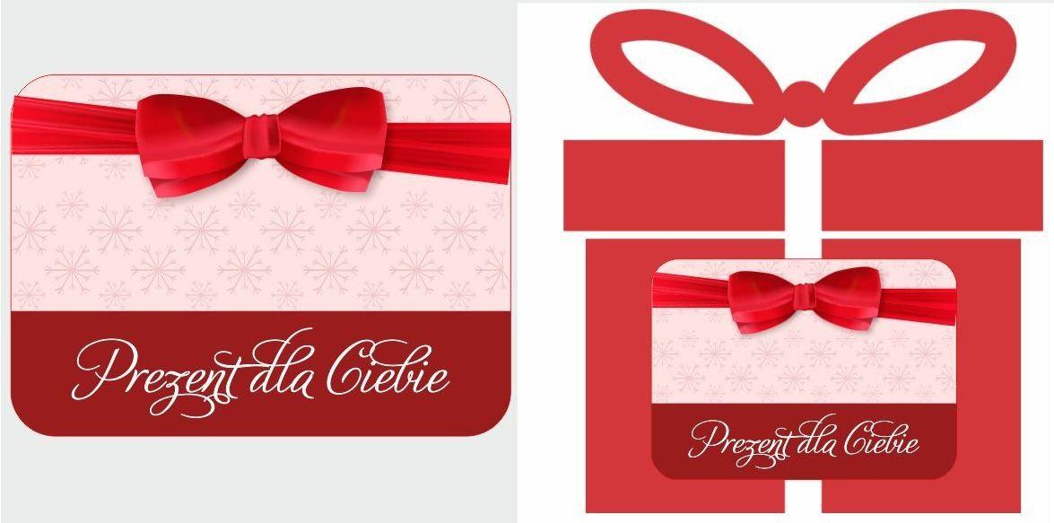 Etykiety na prezent eleganckie z kokardą
