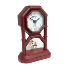 Mini zegar z wahadłem brązowy #AK42