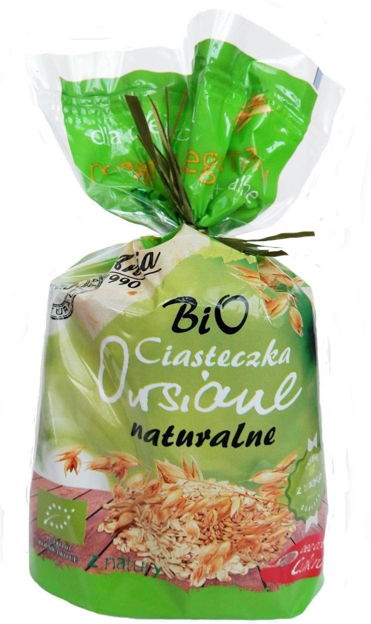 Ciasteczka owsiane naturalne bez dodatku cukrów bio 150 g - bio ania