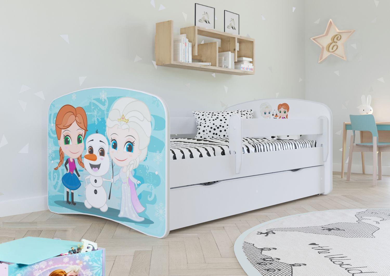Łóżko dziecięce BABY DREAMS kraina lodu 160 z barierką  KUP TERAZ - OTRZYMAJ RABAT