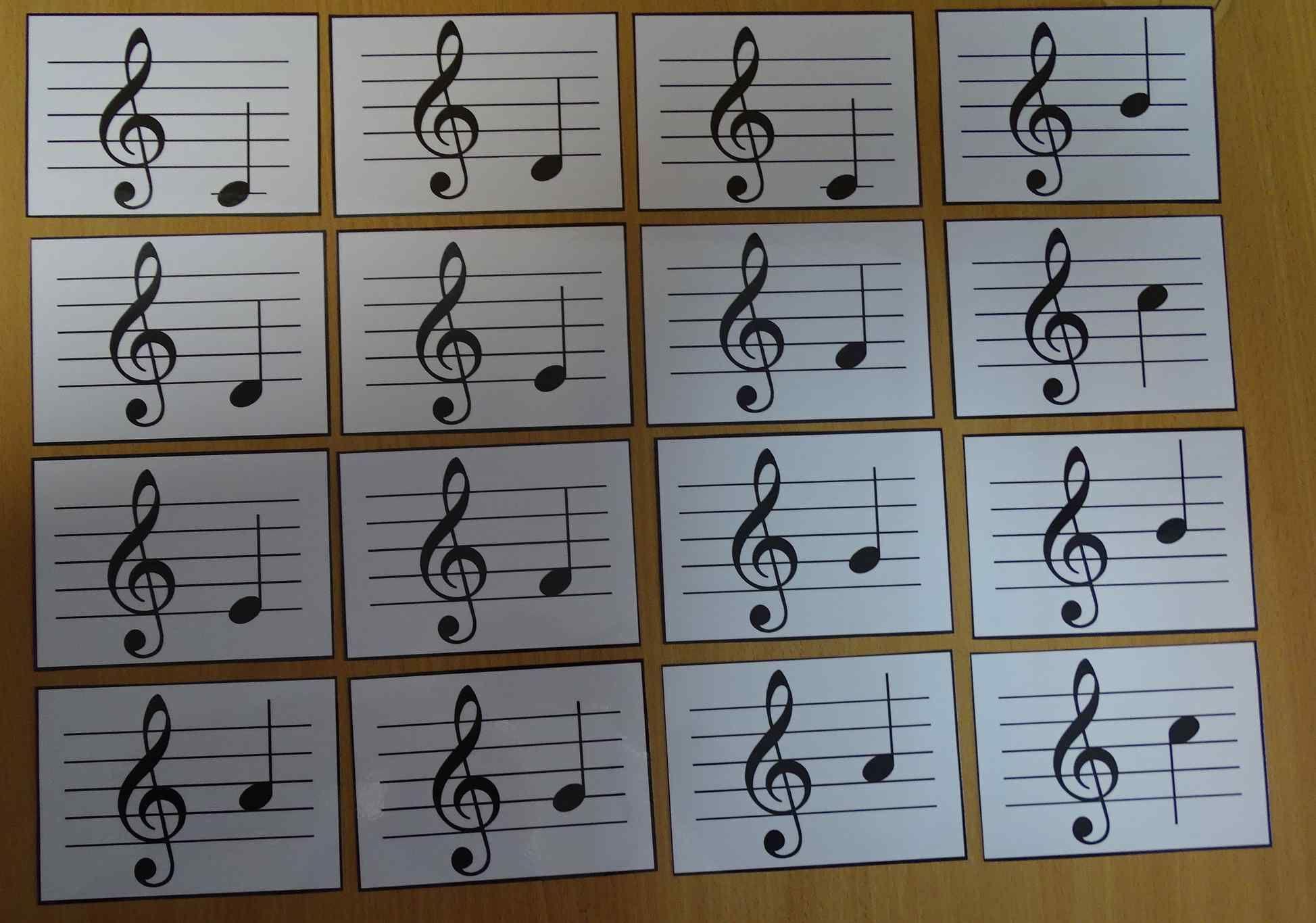 Muzyczne memory - nauka nut przez zabawę