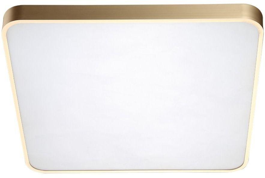 Sierra plafon złoty LED kwadratowy 40cm 12100006-GD - Zuma Line // Rabaty w koszyku i darmowa dostawa od 299zł !
