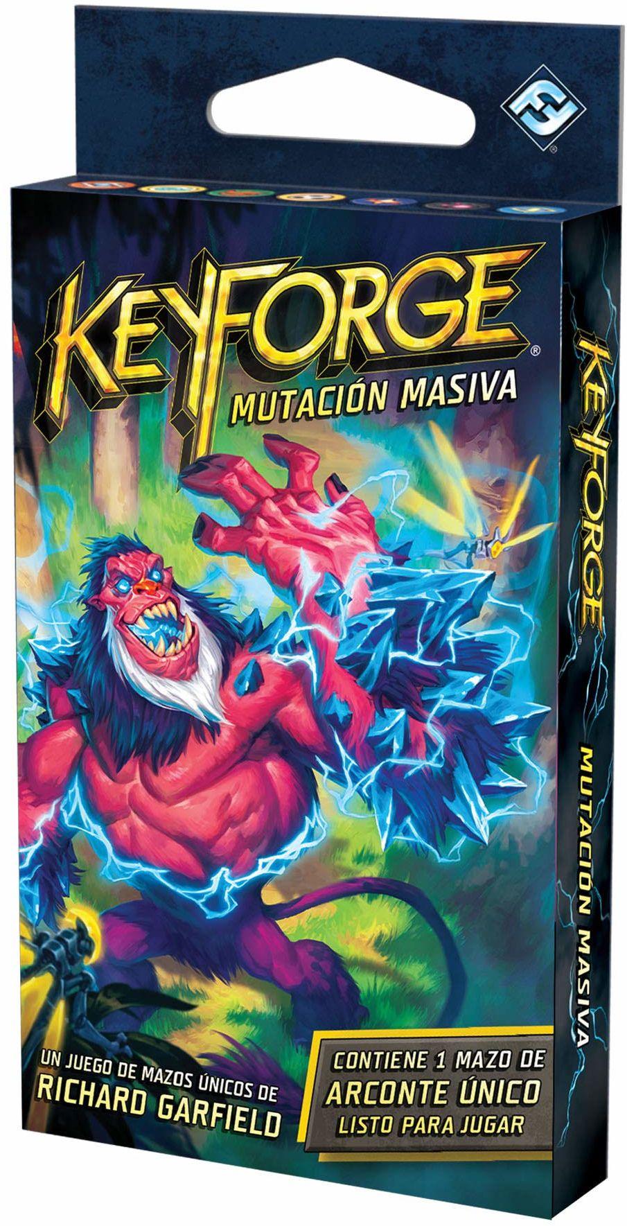 Fantasy Flight Games Gra karciana  KeyForge Mutation rakietka do masażu do treningu na świecie, w którym wszystko jest możliwe (KF09AES)