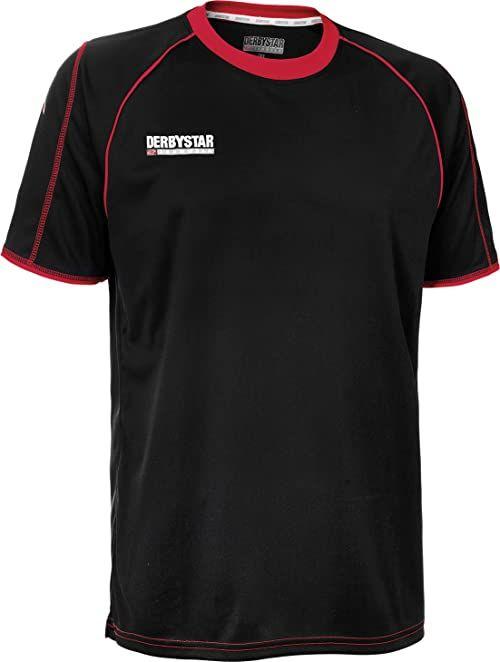 Derbystar Koszulka piłkarska Uni Energy krótka czarny czarny/czerwony 140-152
