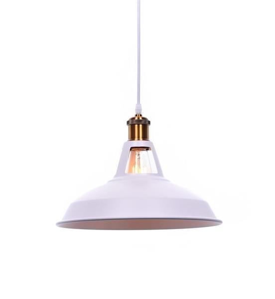 Lumina Deco Zonda loftowa biała lampa wisząca