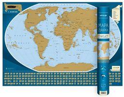 Świat mapa zdrapka 1:50 000 000 ZAKŁADKA DO KSIĄŻEK GRATIS DO KAŻDEGO ZAMÓWIENIA