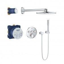 Grohe Grohtherm SmartControl zestaw prysznicowy podtynkowy termostatyczny z deszczownicą chrom - 34705000 Darmowa dostawa