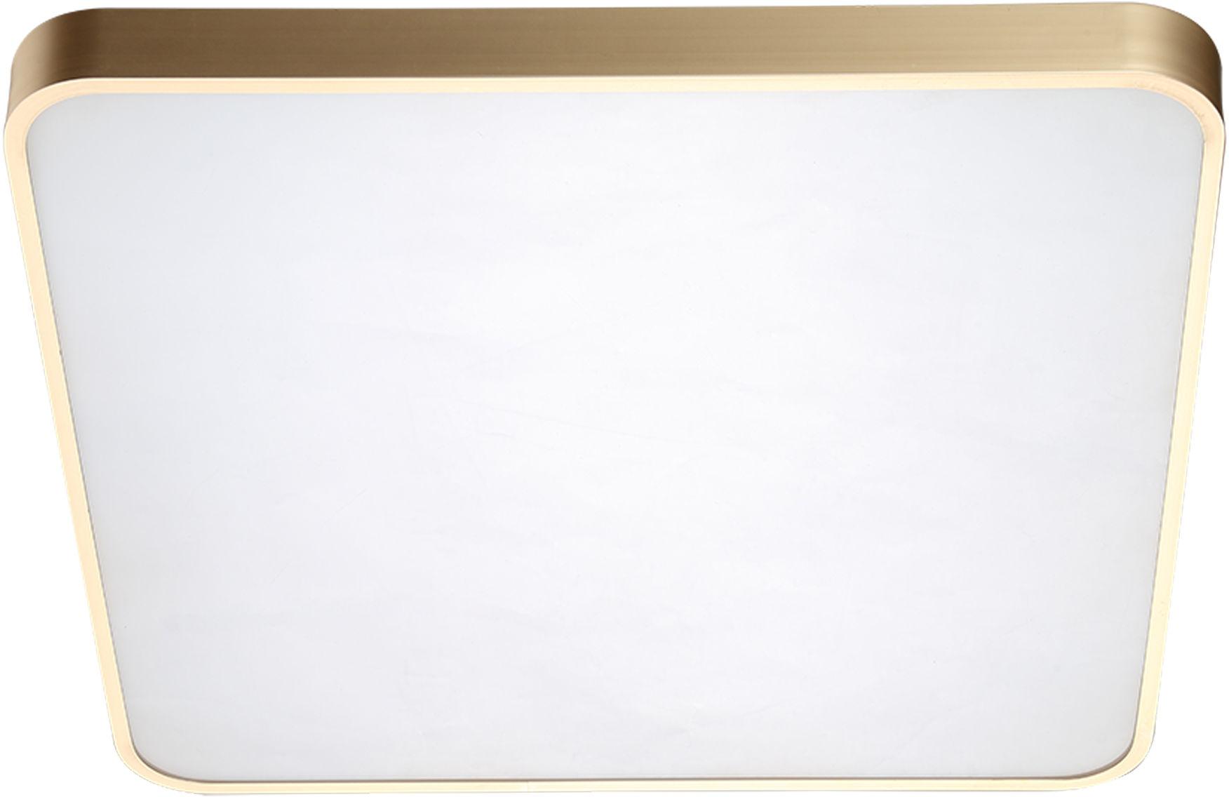 Sierra plafon złoty LED kwadratowy 50cm 12100005-GD - Zuma Line // Rabaty w koszyku i darmowa dostawa od 299zł !