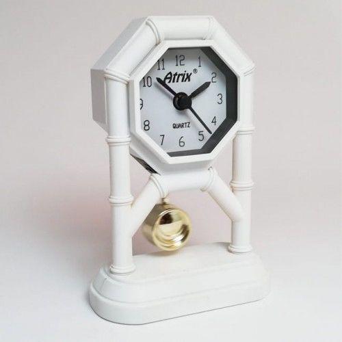 Mini zegar z wahadłem białym #AK42