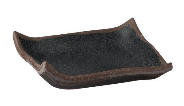 Półmisek kwadratowy z melaminy czarny 145x145x20mm