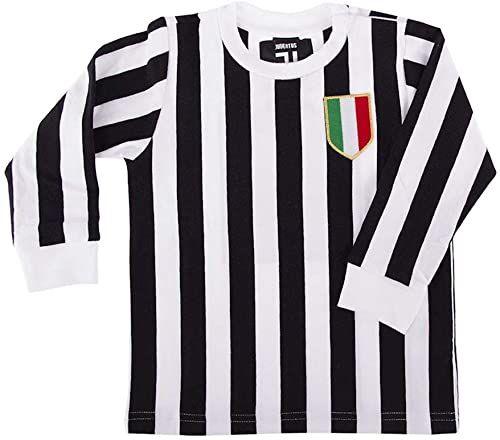 COPA Unisex dzieci Juventus Fc My First Football T-shirt z okrągłym dekoltem czarny/biały 80