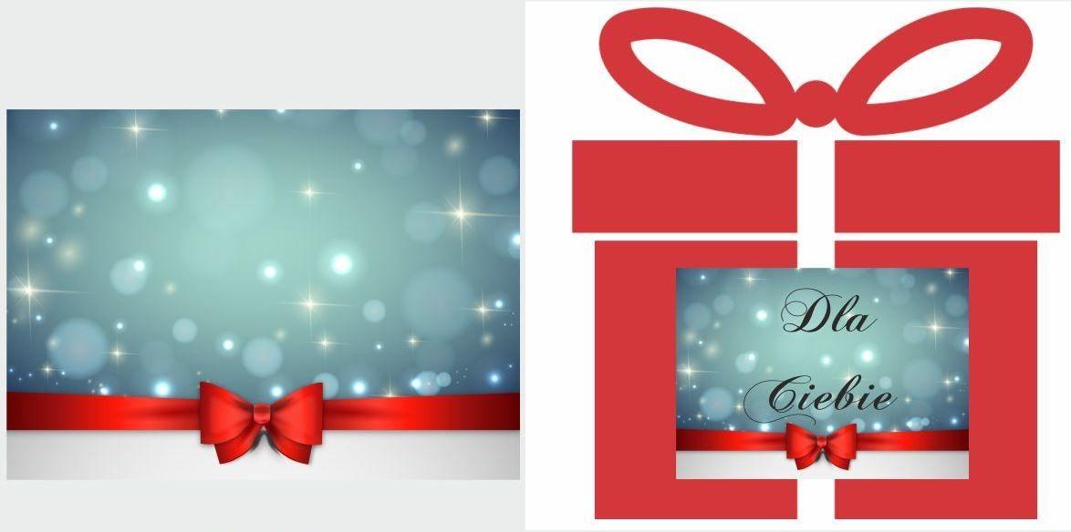 Etykiety na prezent z czerwoną kokardą