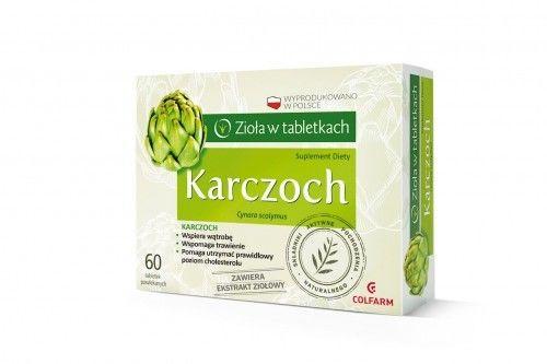 Karczoch - zioła w tabletkach - COLFARM