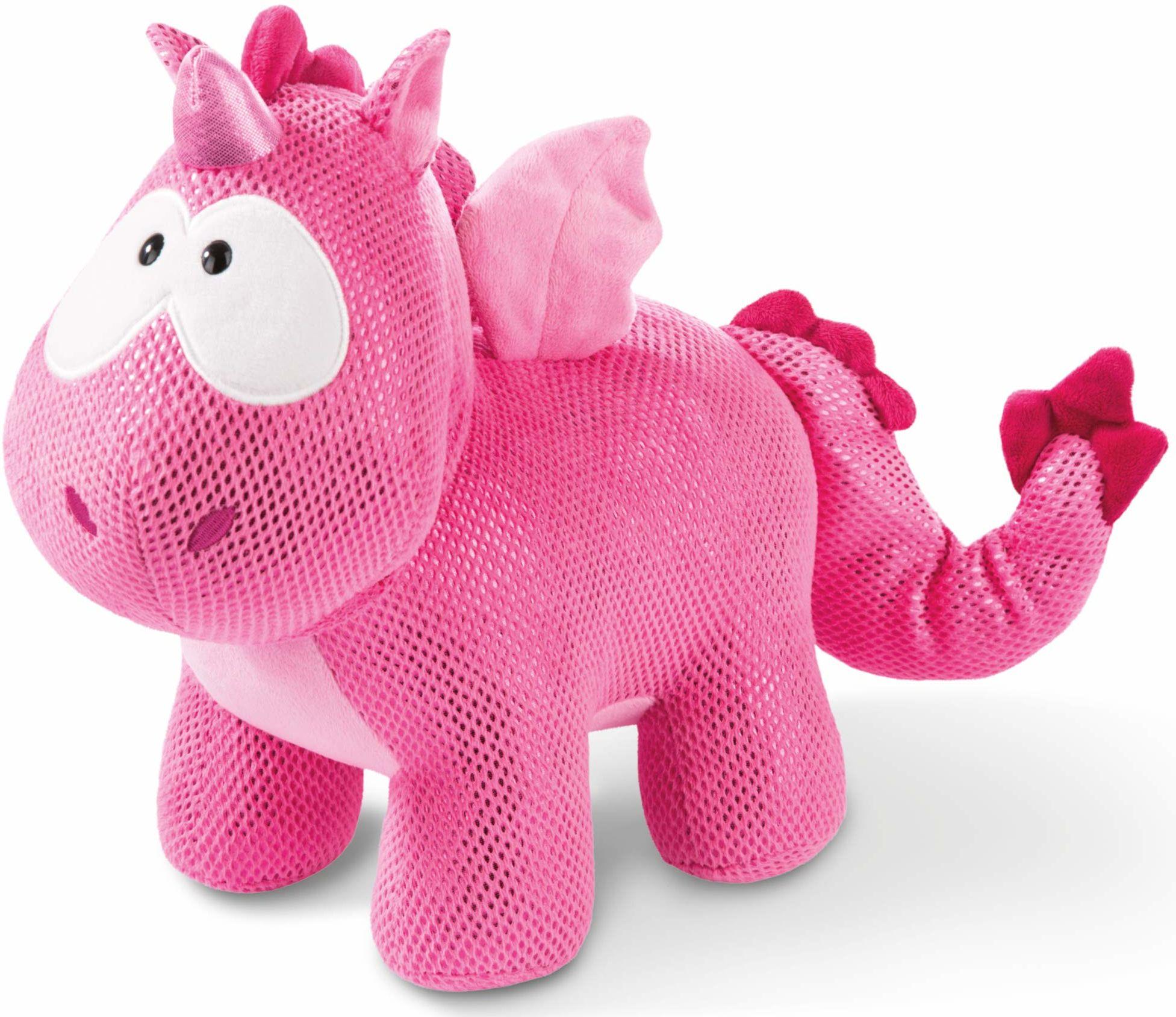 Nici 45698 przytulny smok rubin de la Rosa, miękka zabawka jednorożec miś, 32 cm, różowy