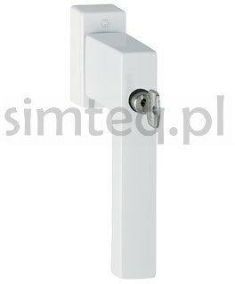 Klamka okienna z kluczem Toulon F9016/biel - trzpień 32-42 mm