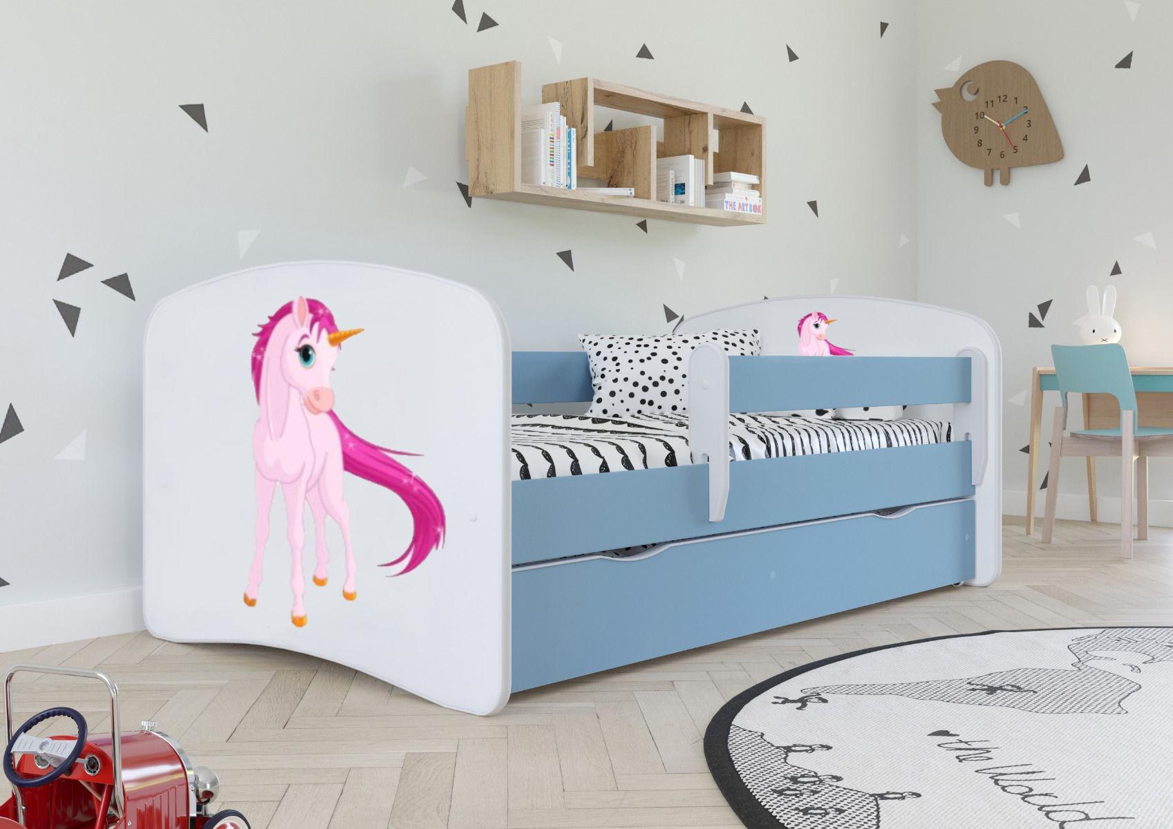 Łóżko dziecięce BABY DREAMS jednorożec 180x80