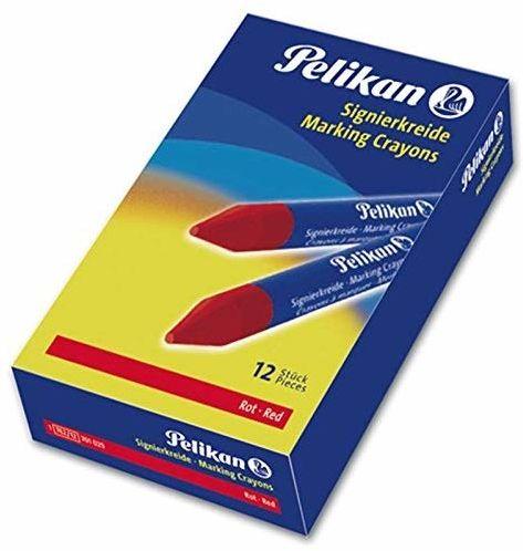 Pelikan 701029 - kreda sygnująca do chropowatych podłoży, pudełko 12 sztuk, czerwone