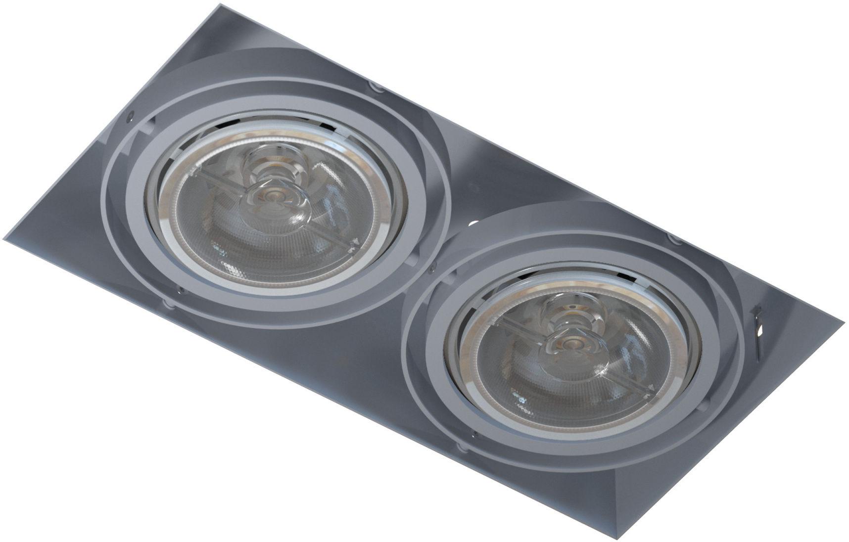Oprawa wpuszczana bezramkowa podwójna Mara T018PB2Bh101 Cleoni nowoczesna lampa sufitowa