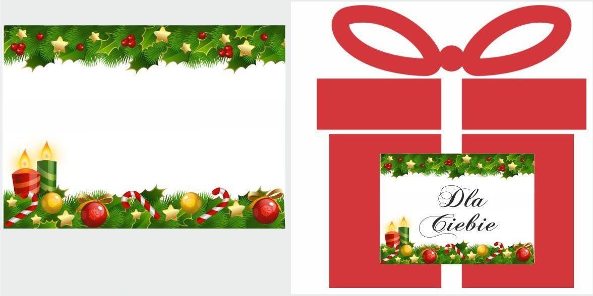 Etykiety na prezent z dekoracją świąteczną w gwiazdki