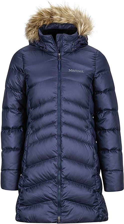 Marmot Wm''s Montreal Coat lekka kurtka puchowa, 700 Fill-Power, ciepła parka, płaszcz zimowy, wodoodporny, wiatroszczelny granatowy (Midnight Navy) S