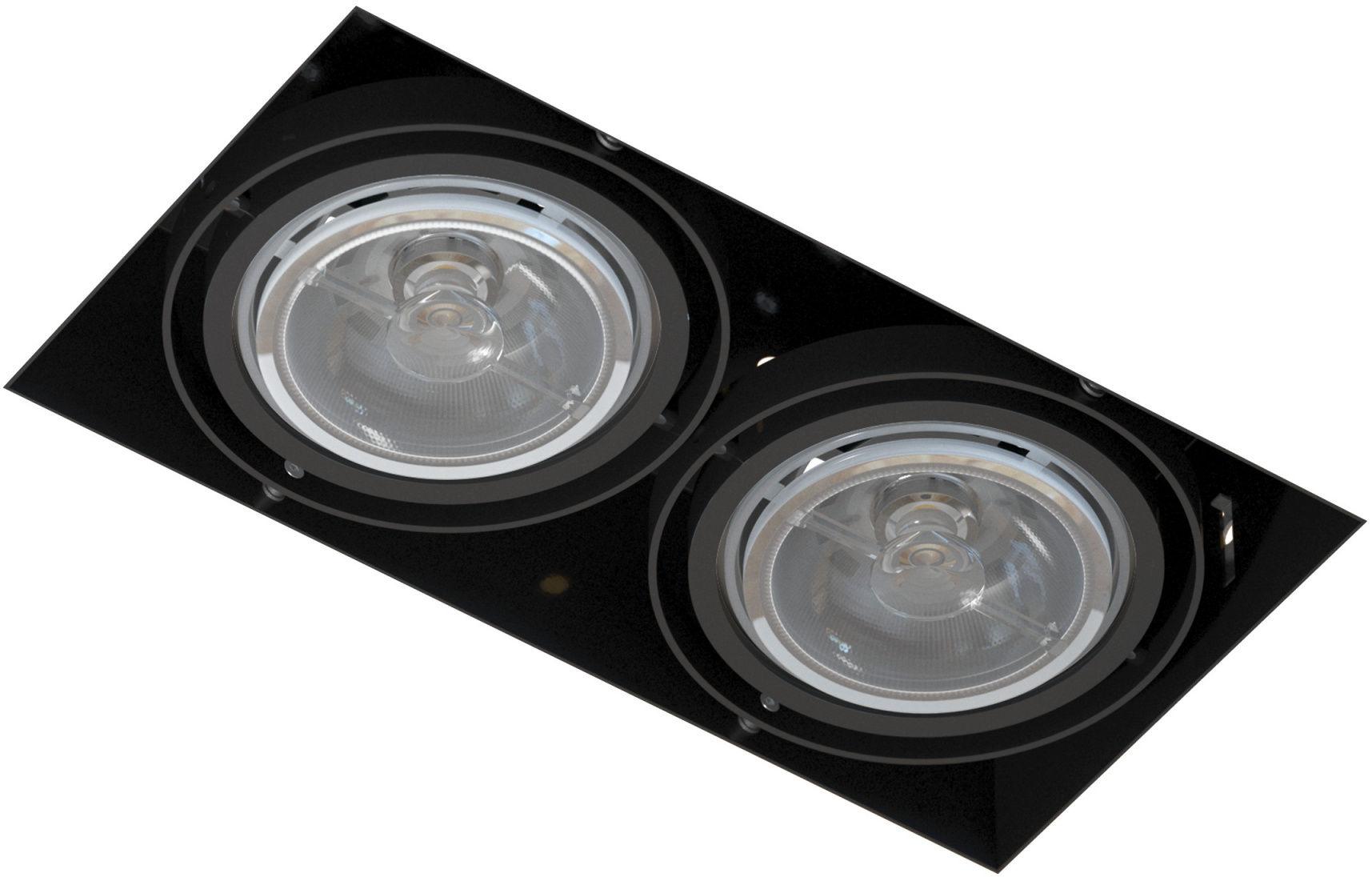 Oprawa wpuszczana bezramkowa podwójna Mara T018PB2Bh116 Cleoni nowoczesna lampa sufitowa