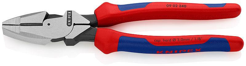 """szczypce uniwersalne, kombinerki typ amerykański, """"Lineman''s"""" 240mm Knipex [09 02 240]"""