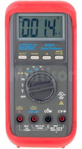 Multimetr cyfrowy BRYMEN BM805 LCD 3,75 cyfry (4000) 3x/s 198x97x55mm