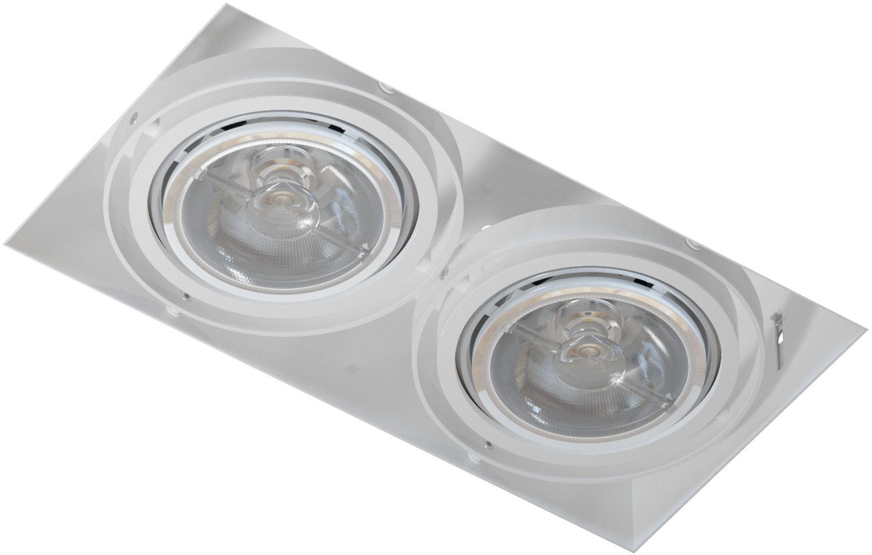 Oprawa wpuszczana bezramkowa podwójna Mara T018PB2Bh117 Cleoni nowoczesna lampa sufitowa
