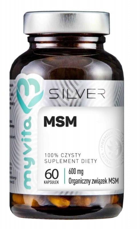 MSM organiczny związek siarki 600ml 60 kapsułek - Myvita Silver