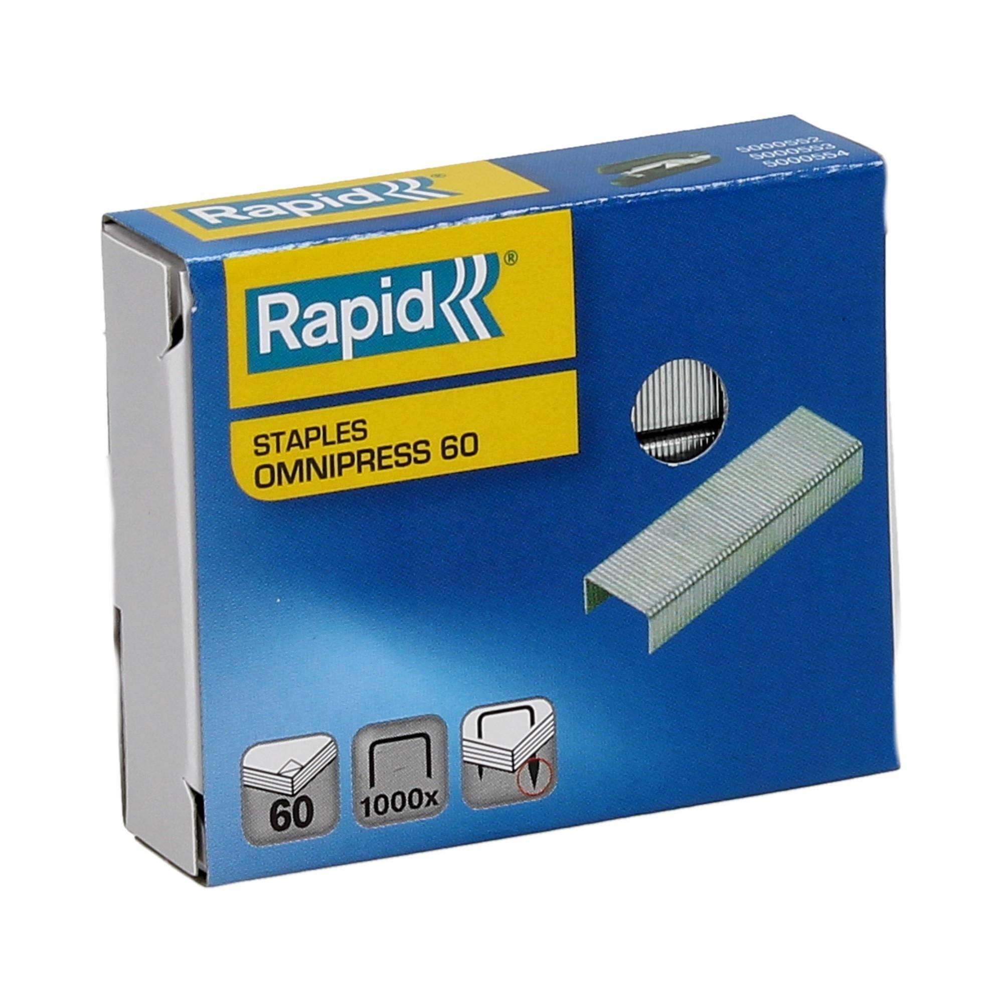 Zszywki 60 cynkowe (1000) Omnipress Rapid