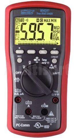 Multimetr cyfrowy BRYMEN BM257 LCD (6000) Bargraf 24 segm.40x/s 5x/s