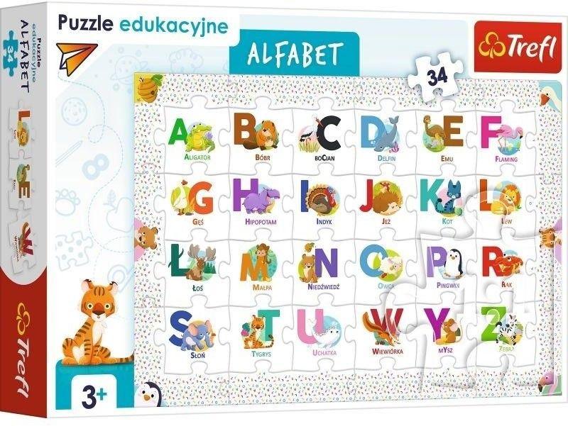 Puzzle 36 elementów Alfabet TREFL 15560