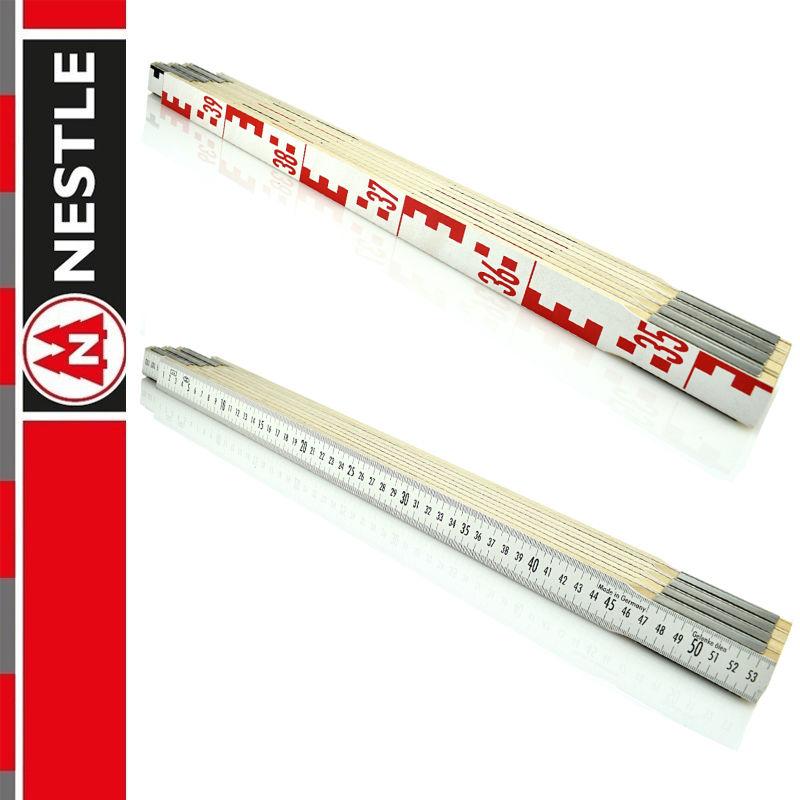 Przymiar składany do niwelacji 4m, miarka / 8 x 50 cm NESTLE