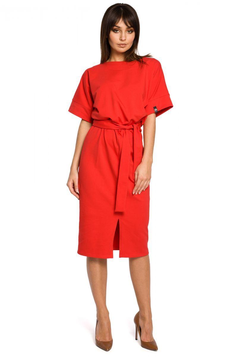 B062 sukienka czerwona