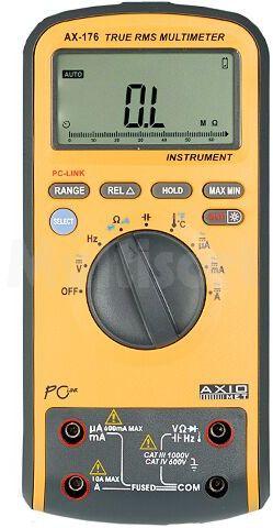 Multimetr cyfrowy AXIOMET LCD (6600) 3x/s Temp -55 1000 C 1 99%