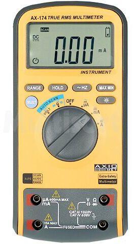 Multimetr cyfrowy AXIOMET LCD (6000) 3x/s Test diody 1mA, 2,8V